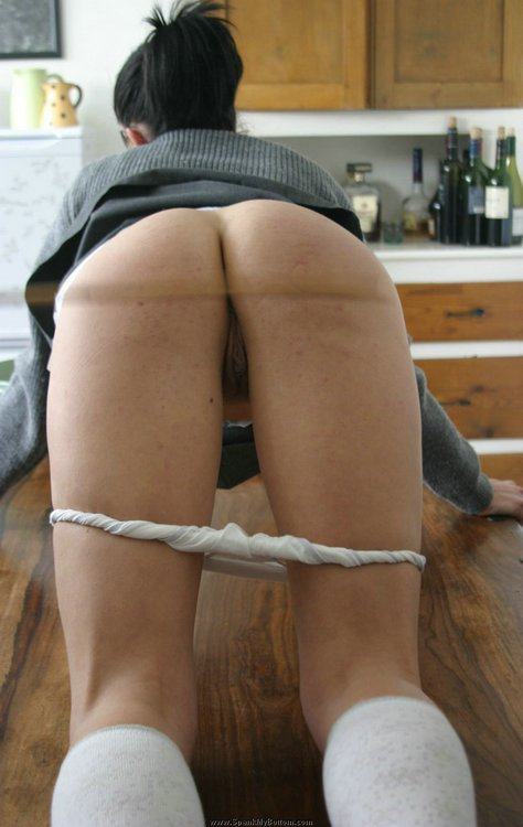 Bare bottom spanking and rectal thermometer 5